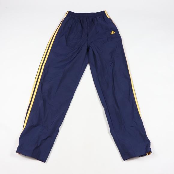 special sales new design choose official 90s Adidas Mens Medium Striped Jogger Pants Blue